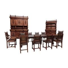 Antique Renaissance Dining Room, Late 19th Century
