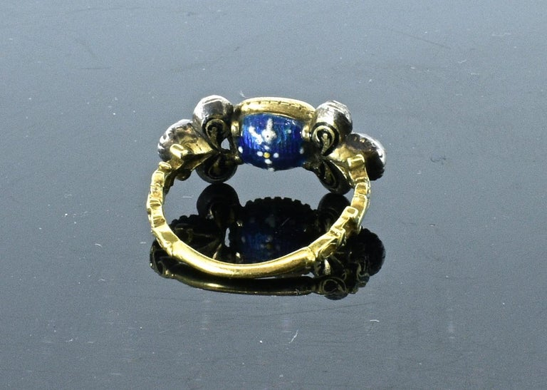 Antique Spinel, Gold and Silver Ring, circa 1750 For Sale 2