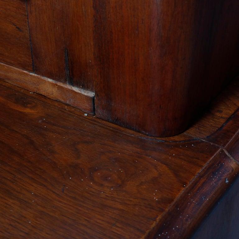 Antique Renaissance Revival Walnut Double Door Bookcase with Drawers, c1880 6