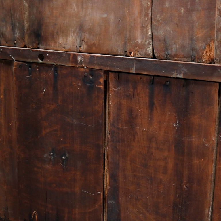 Antique Renaissance Revival Walnut Double Door Bookcase with Drawers, c1880 12
