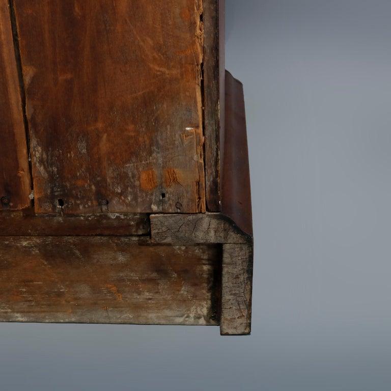 Antique Renaissance Revival Walnut Double Door Bookcase with Drawers, c1880 13