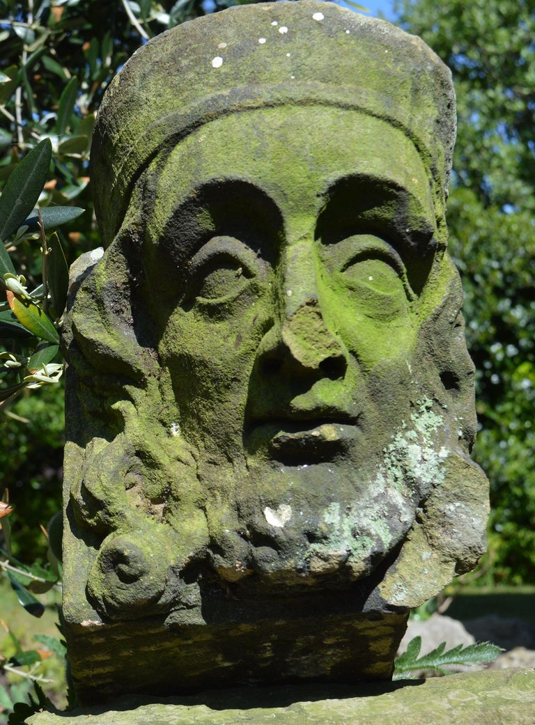 Wonderful stone carving of a kings face.