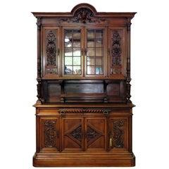 Antique Renaissance Style China Cabinet