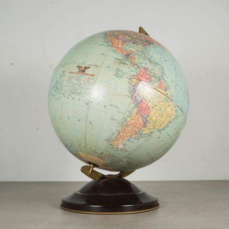 Industrial Antique Replogle Standard Globe, circa 1949 For Sale