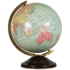 Antique Replogle Standard Globe, circa 1949