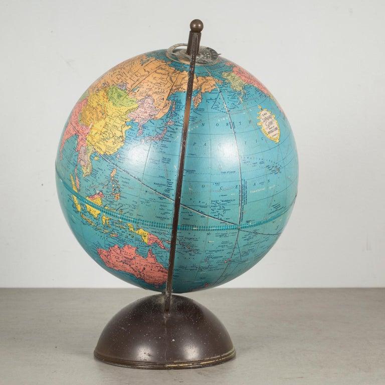 Plated Antique Replogle Standard Globe, circa Pre 1948 For Sale