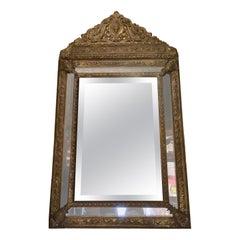 Antique Repousse' Dutch Mirror