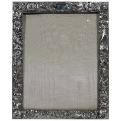 Antique Repoussé Sterling Silver Picture Frame by Stieff of Baltimore