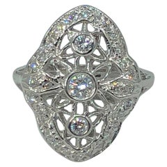 Antique Reproduction .51 Carat Conflict Free Cocktail Ring in 14 Karat