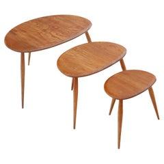 Antique Retro Ercol Nest of 3 Tables