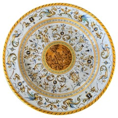 Antique Richard Ginori Big Porcelain Plate, 19th Century