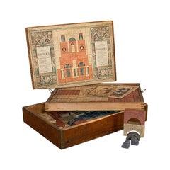 Antique Richter's Anchor Box, German, Stone, Anker Baukasten, Number 15, Set
