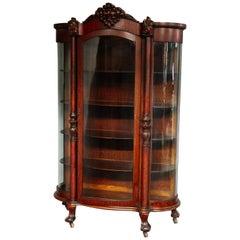 Antique RJ Horner School Carved Oak China Cabinet, circa 1880