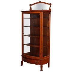 Antique RJ Horner School Oak China Cabinet, 20th Century