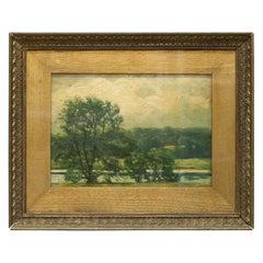 Antique Robert Hogg Nisbet Oil on Board Landscape Painting, circa 1910
