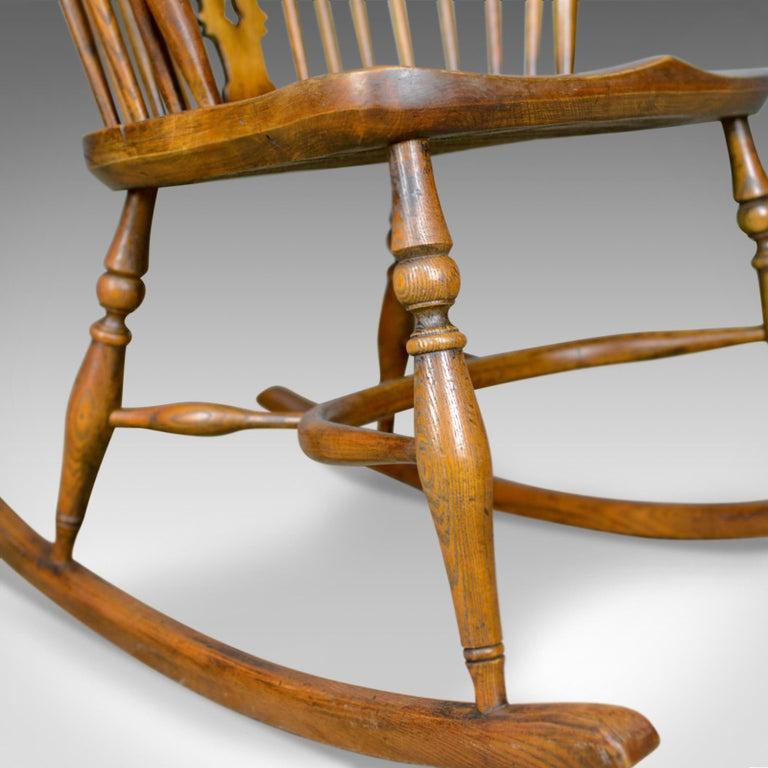 Antique Rocking Chair English Edwardian Windsor Stick