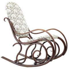 Antique Rocking Chair or Gebruder Thonet, 1881