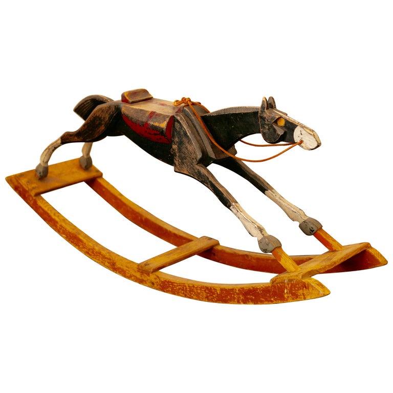 Antique Rocking Horse, circa 1900 For Sale