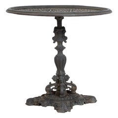 Antique Rococo Table in Cast Iron