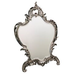 Antique Rococo Table Mirror, A. Aucoc, Paris, 1900