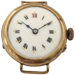 Antique Rolled Gold Swiss Made Trench Watch