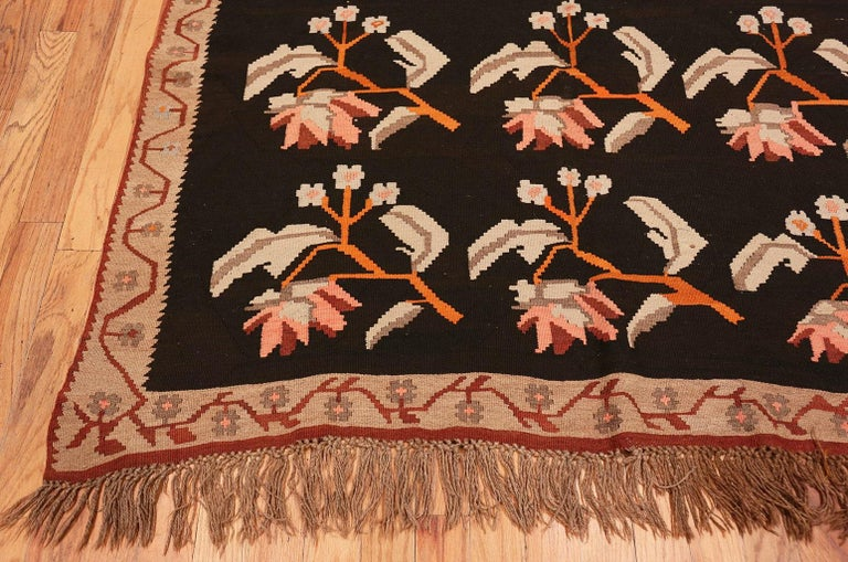 Hand-Knotted Antique Romanian Besserabian Kilim For Sale