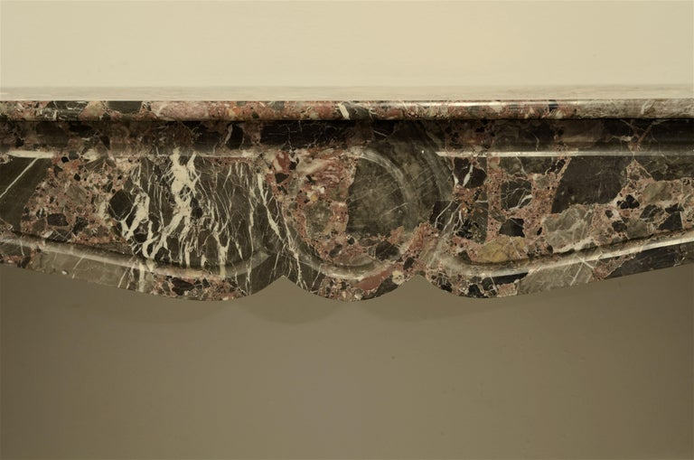 Louis XV Antique Romarin Marble Fireplace Mantel For Sale