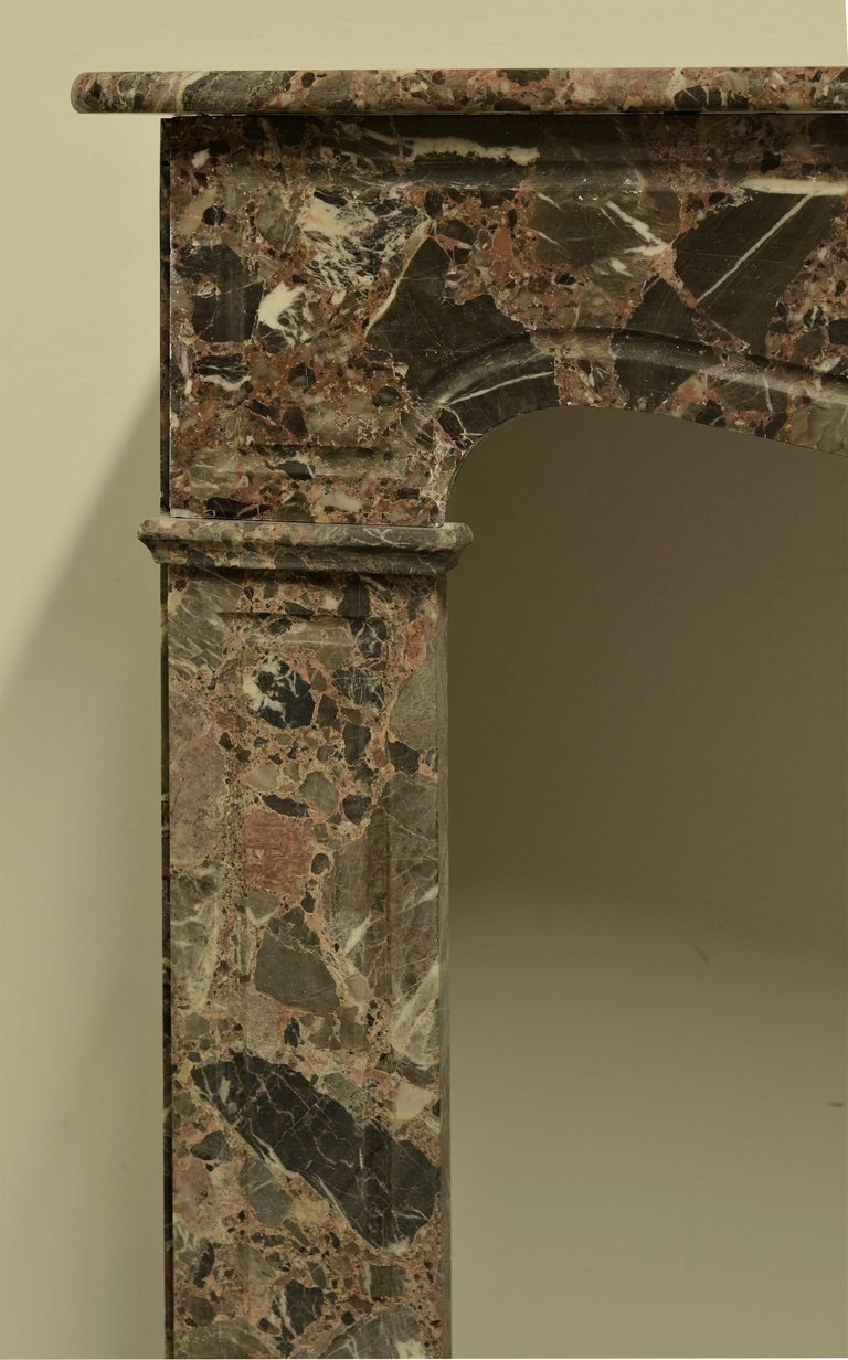 French Antique Romarin Marble Fireplace Mantel For Sale