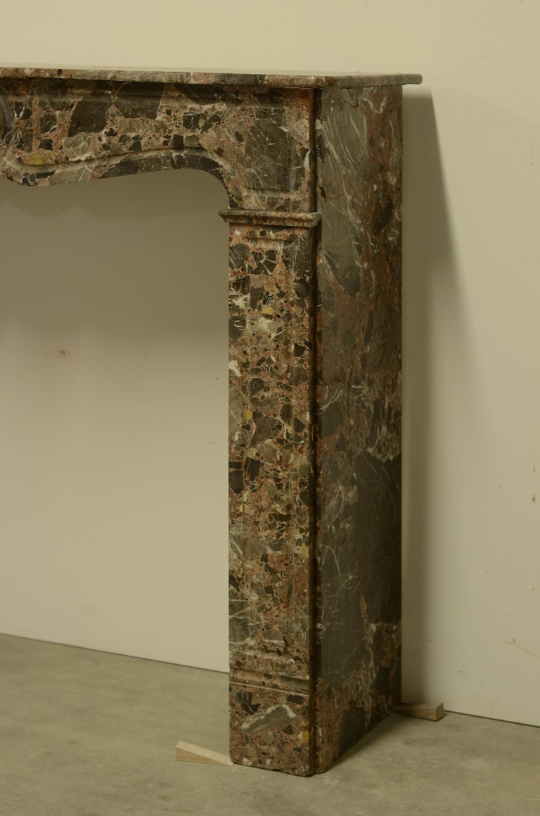 Antique Romarin Marble Fireplace Mantel For Sale 1