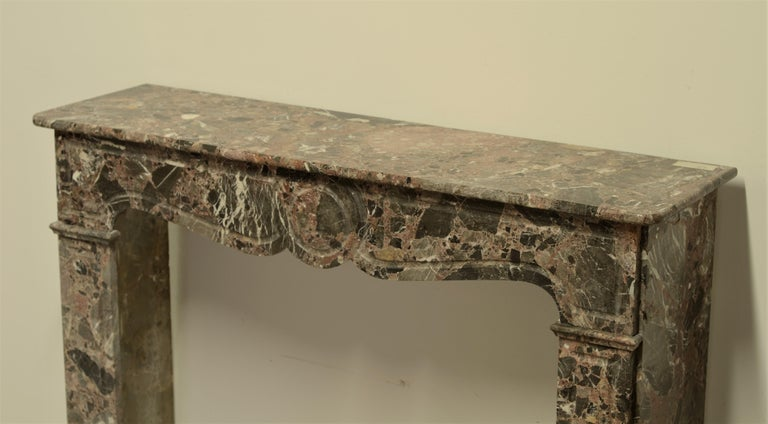 Antique Romarin Marble Fireplace Mantel For Sale 2