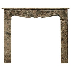 Antique Romarin Marble Fireplace Mantel