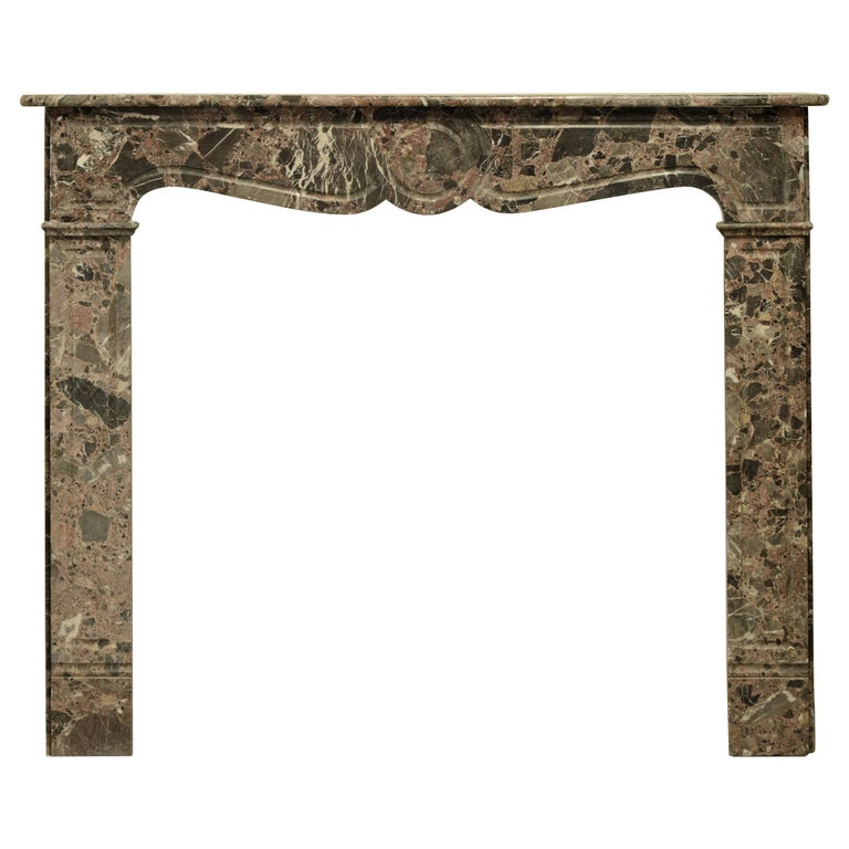 Antique Romarin Marble Fireplace Mantel For Sale