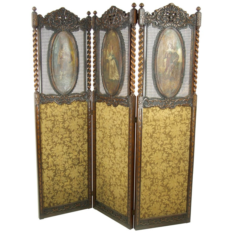 Antique Room Divider, Privacy Screen, England 1890