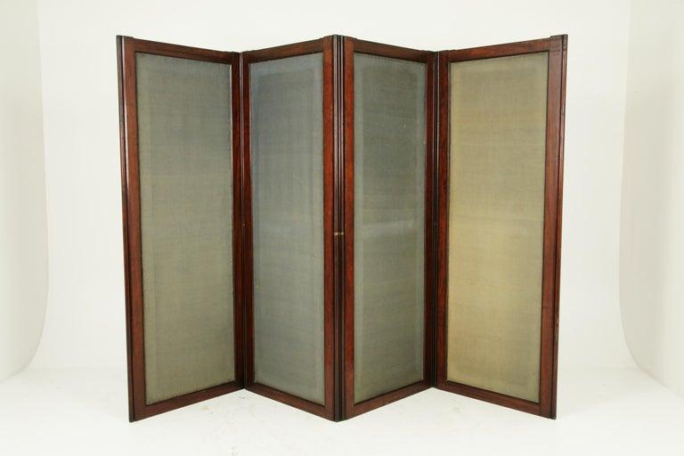 Antique Room Divider, Privacy Screen, Folding Screen, Scotland, 1880, B1412 4