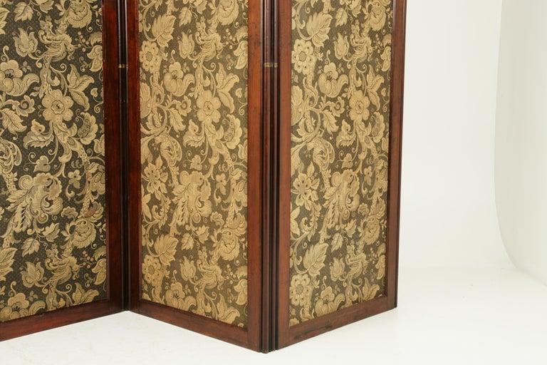 Scottish Antique Room Divider, Privacy Screen, Folding Screen, Scotland, 1880, B1412
