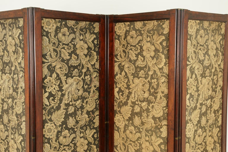 Hand-Crafted Antique Room Divider, Privacy Screen, Folding Screen, Scotland, 1880, B1412