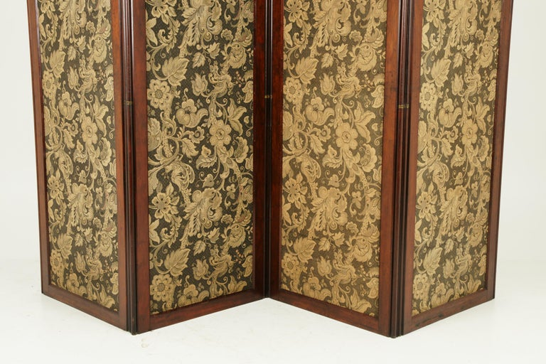 Antique Room Divider, Privacy Screen, Folding Screen, Scotland, 1880, B1412 In Good Condition In Vancouver, BC