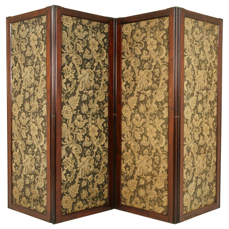 Antique Room Divider, Privacy Screen, Folding Screen, Scotland, 1880, B1412