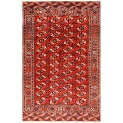 Antique Room Size Turkmen Tekke Rug. Size: 7 ft 4 in x 11 ft 6 in