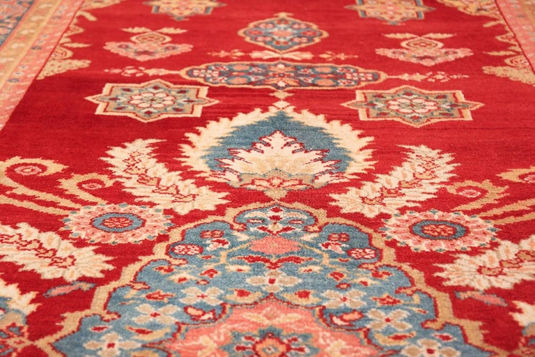 Hand-Knotted Antique Room Size Sultanabad Persian Rug For Sale