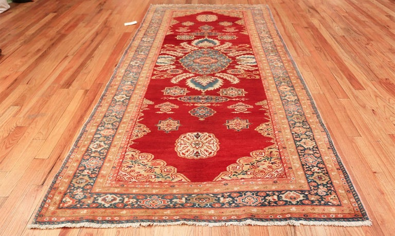 Wool Antique Room Size Sultanabad Persian Rug For Sale