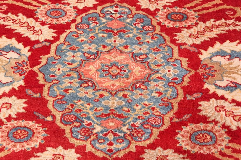 Antique Room Size Sultanabad Persian Rug For Sale 1