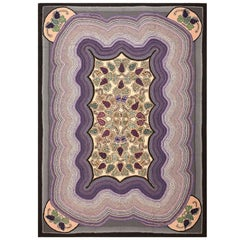 Antique Room Sized American Hooked Rug. Size: 8 ft 2 in x 11 ft 4 in