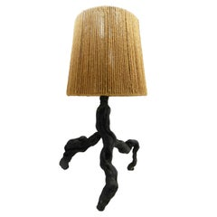 Olive Table Lamp Light Vine Root Mid Century Live Edge