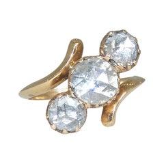 Antique Rose Cut Diamond Ring, circa 1880