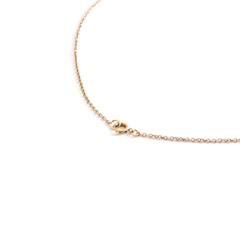 Women's or Men's Antique Rose Cut Diamond Star Necklace For Sale