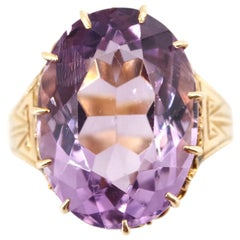 """Antique """"Rose de France"""" Amethyst Ring of Extraordinary Coolness"""