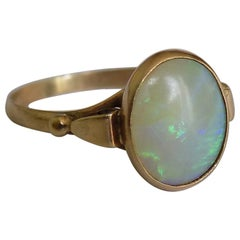 Antique Rose Gold and Opal Solitaire Ring