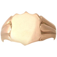 1915 Antique Rose Gold Gents Signet Ring