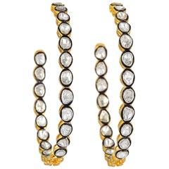 Rosecut Diamond Hoop Earrings